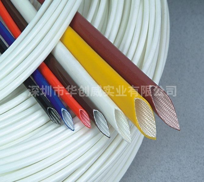 硅橡膠玻璃纖維套管-(內纖外膠)