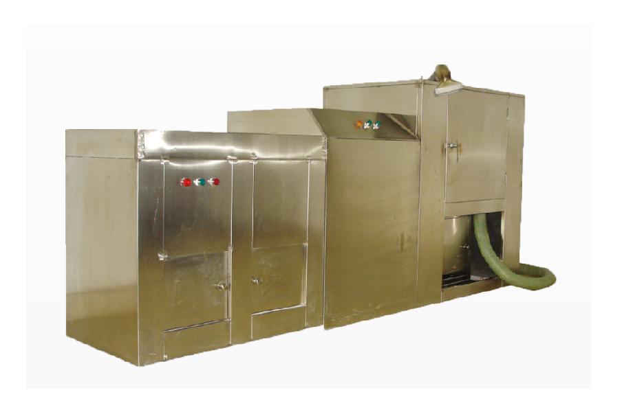 YQ歐亞6000B型骨灰粉粹機、坑面吸塵清理器