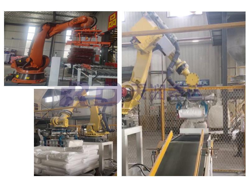 機器人碼垛工作站(飼料、高分子材料、水泥等)