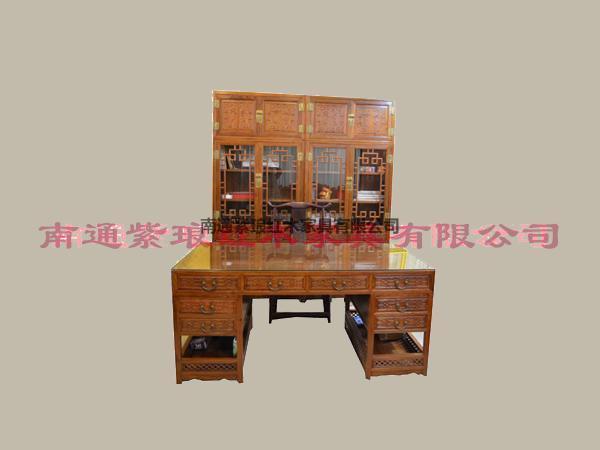 吉慶有余頂箱書柜組合