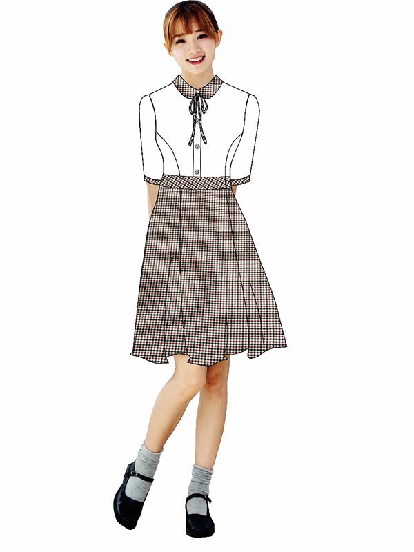 中学女生秋装礼仪服