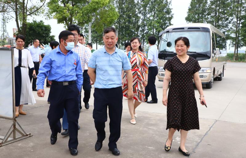 湖北省人大常委會副秘書長王潤濤一行來金澳科技考察調研