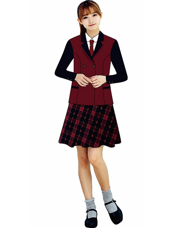 中学女生冬装礼仪服