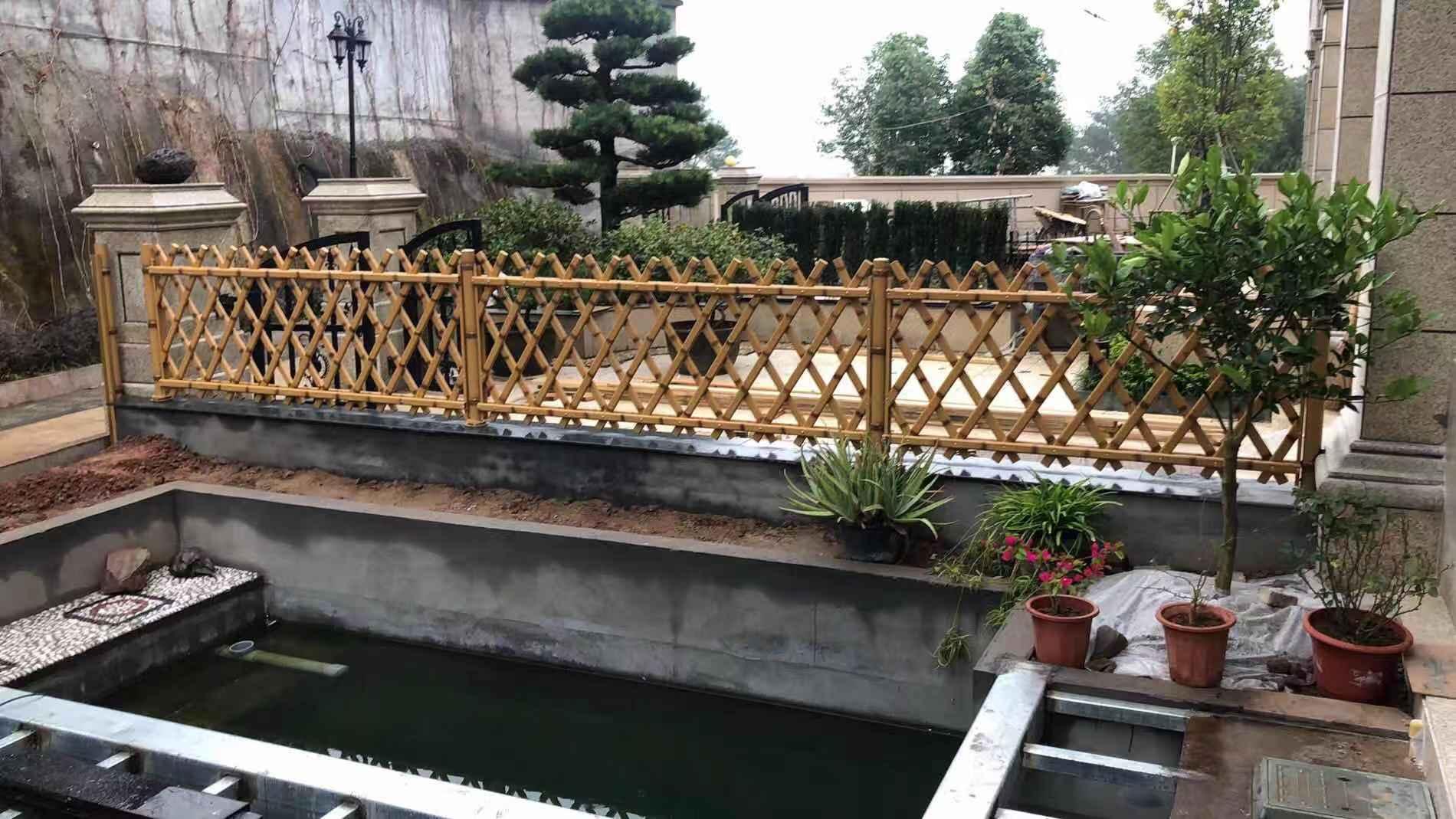 美丽乡村建设竹篱笆标配仿竹护栏