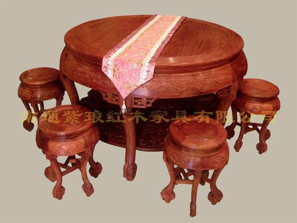 二龍戲珠圓餐桌