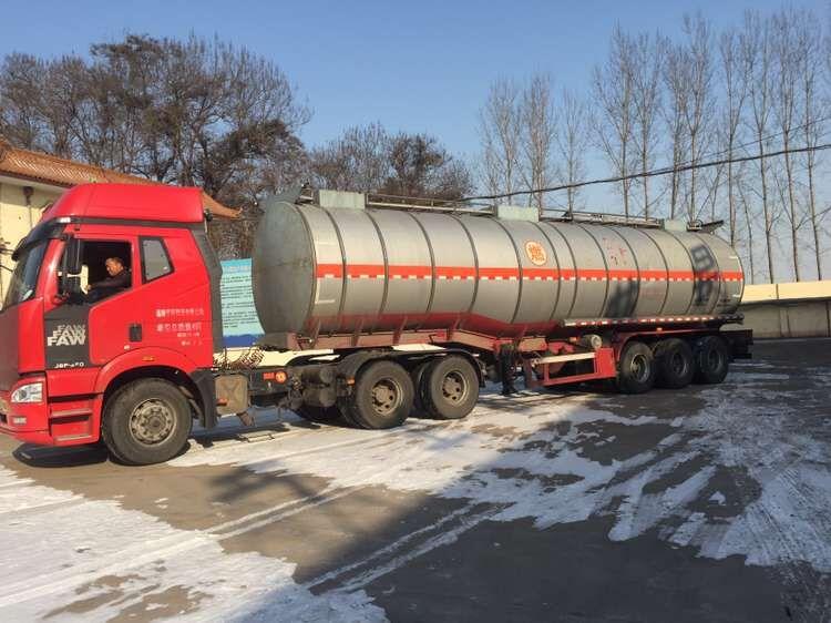 冒著嚴寒發貨甘肅60噸導熱油