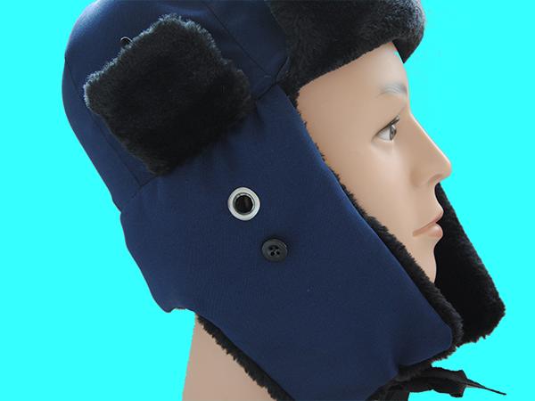 防寒安全帽(藍布面)