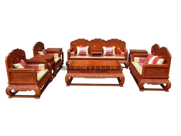 檀雕荷花寶座沙發
