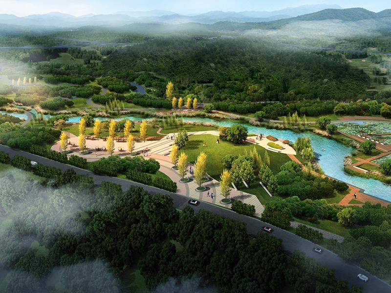 贵州遵义红花岗区深溪河河道景观