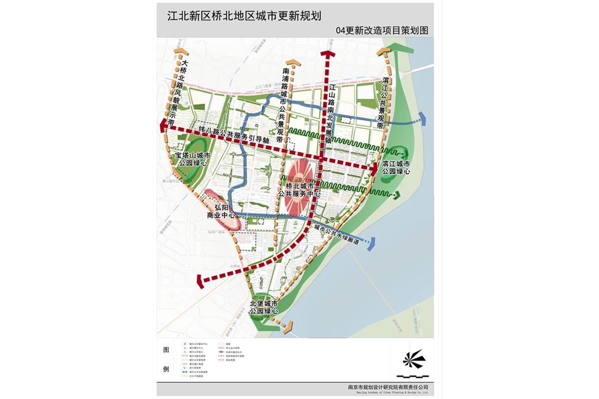南京江北新区桥北地区城市更新规划