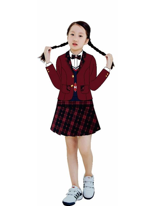 小学女生冬装礼仪服