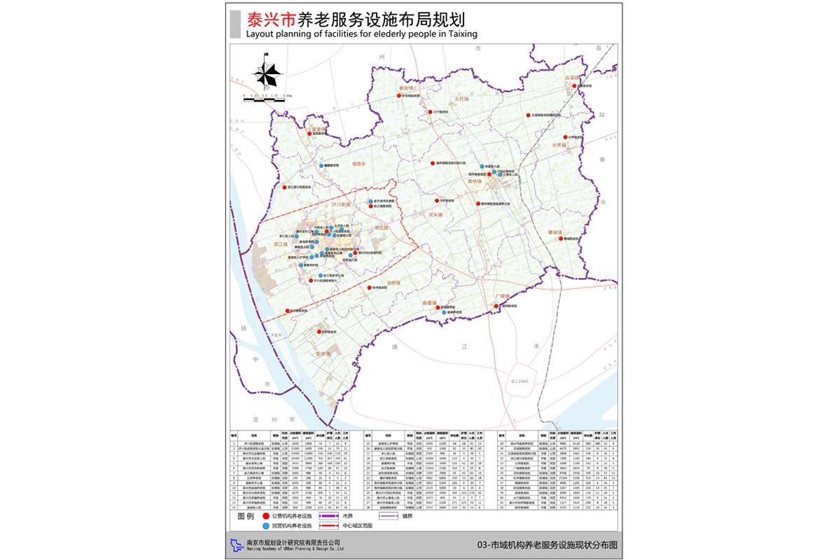 泰兴市养老办事设计布局规划