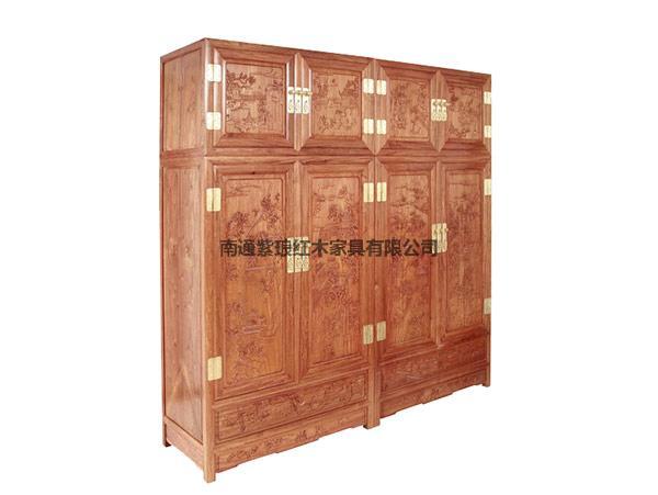 山水獨板頂箱柜