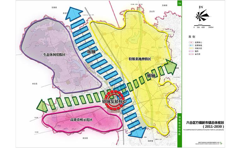 南京市六合区竹镇新市镇总体规划(2011-2030)